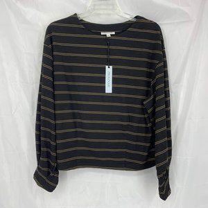 Prologue Size S Black/Gold Striped Shirt